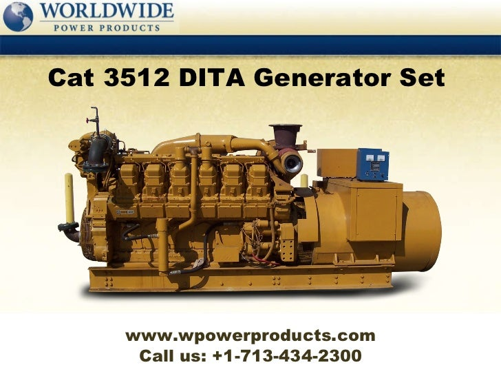 caterpillar 3512 dita generator set rh slideshare net