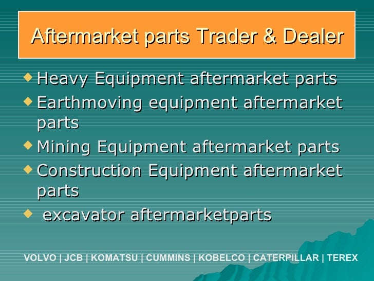 Parts Heavy Equipment Trader : Caterpillar aftermarket parts mining earthmoving