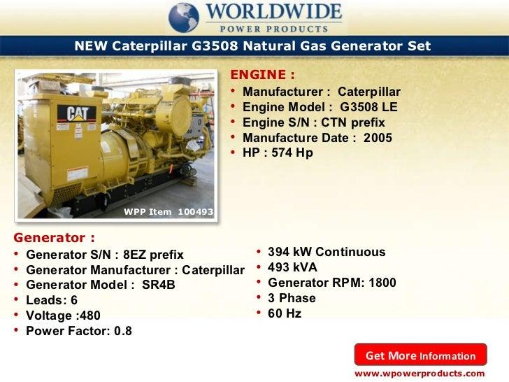 Caterpillar and cummins natural gas generators september 2011
