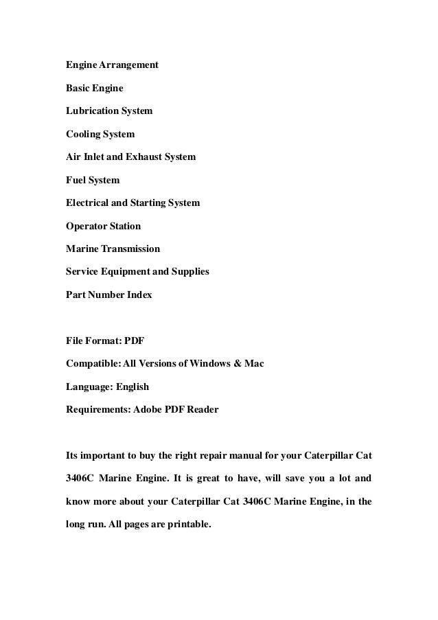 caterpillar 3406c generator manual pdf