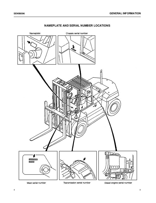 diagram of forklift engine
