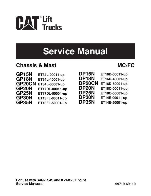 Caterpillar    cat gp20 cn forklift lift trucks service