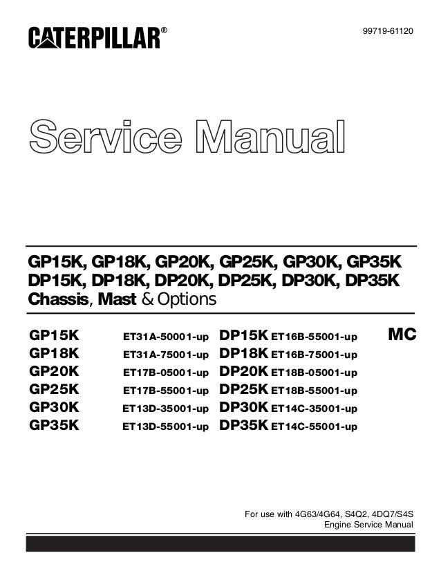 caterpillar cat gp35 k mc forklift lift trucks service repair manual rh slideshare net mitsubishi 4g63 repair manual Parts Manual