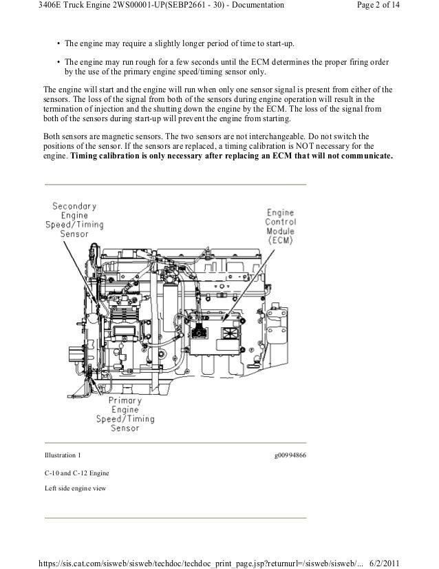 Caterpillar engine speed timing sensor circuit testSlideShare