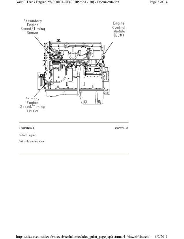 Caterpillar engine speed timing sensor circuit test