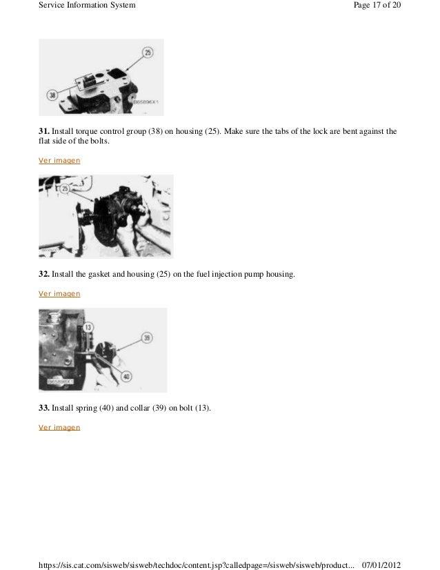 Cat 3406e Oil Pump Torque Specs