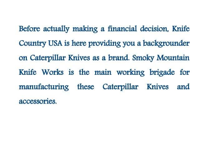 Caterpillar knives