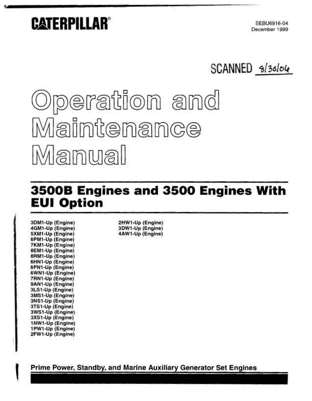 caterpillar operation and maintenance manual 3500 b engines s rh slideshare net Marine Winch Manual Marine Boat Manuals