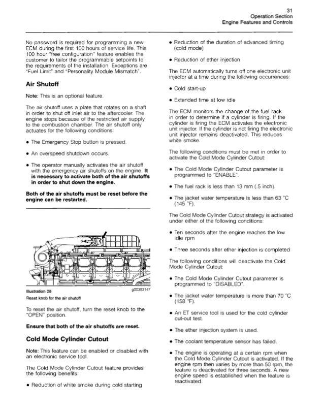 Caterpillar operation and maintenance manual 3500 b engines s