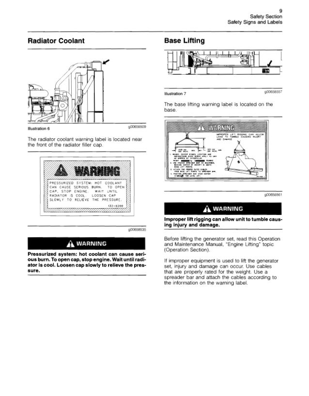 CATERPILLAR GENERATOR OPERATION AND MAINTENANCE MANUAL PDF