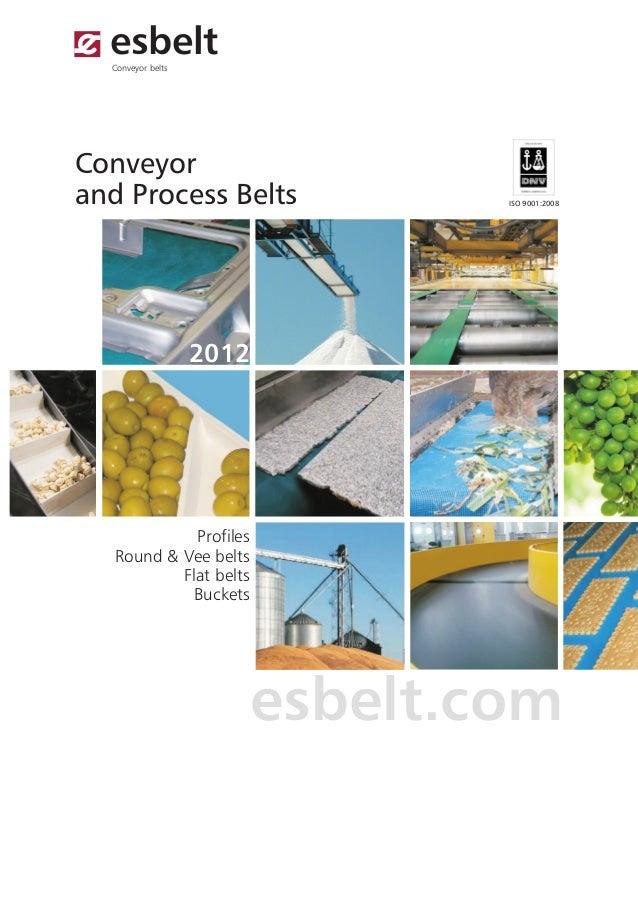 esbelt  Conveyor beltsConveyorand Process Belts                 ISO 9001:2008                   2012             Profiles ...