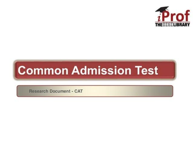 Research Document - CAT