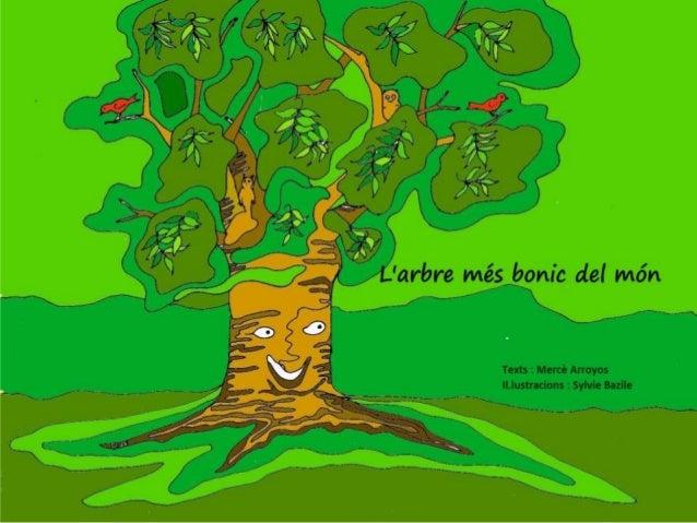 L'ARBRE MÉS BONIC DEL MÓN Els arbres de l' escola es començaven a despertar després d' un llarg hivern a Cerdanya. Eren tr...