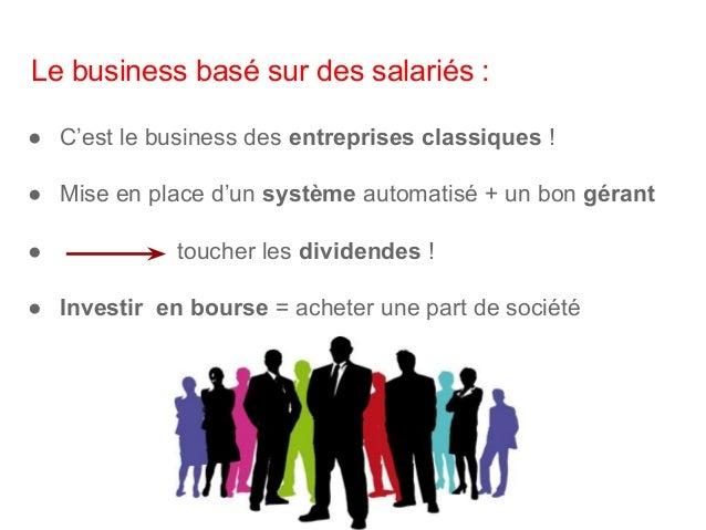 En conclusion : ● Un business qui a le potentiel de vous rendre riche est un business qui utilise : Le temps et l'argent d...