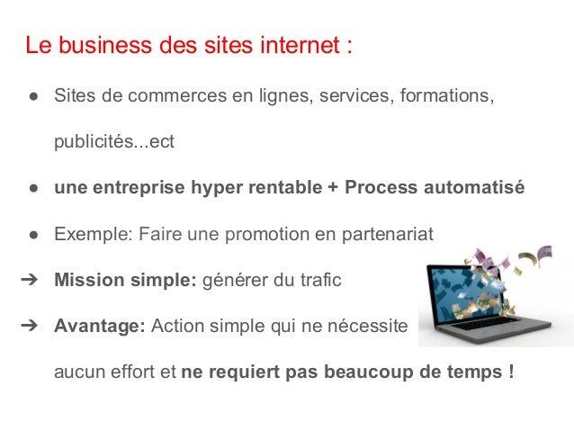 Le business du marketing de réseau : ● Mettre en place un système de distribution de produits en Marketing réseau. ● C'est...