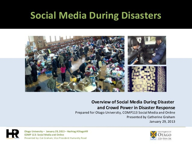Social Media During Disasters                                                         Overview of Social Media During Disa...