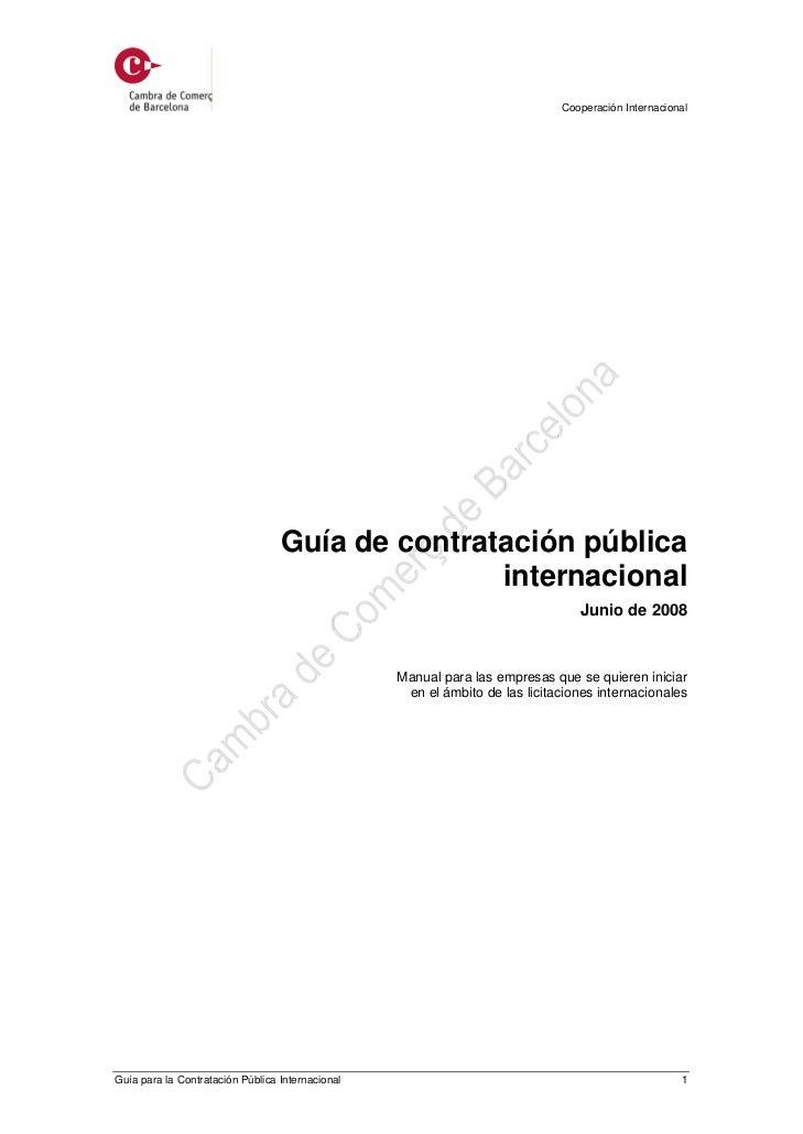 Cooperación Internacional                                  Guía de contratación pública                                   ...