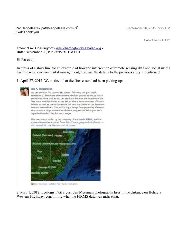 Pat Cappelaere <pat@cappelaere.com>                                       September 26, 2012 5:29 PMFwd: Thank you        ...
