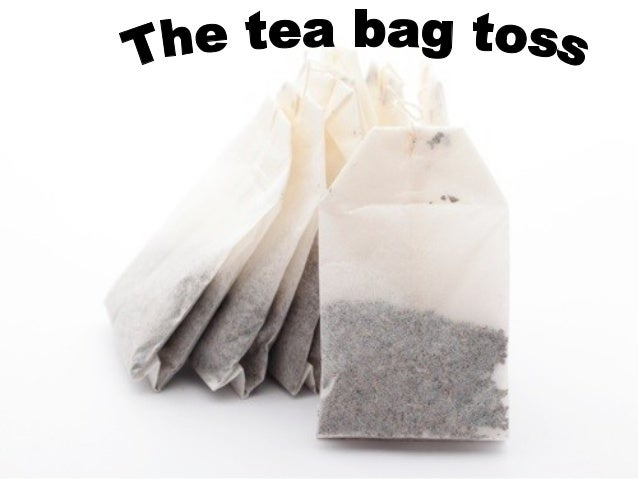 To get the teabag in the cup