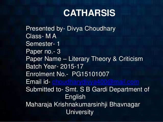 catharsis literary term