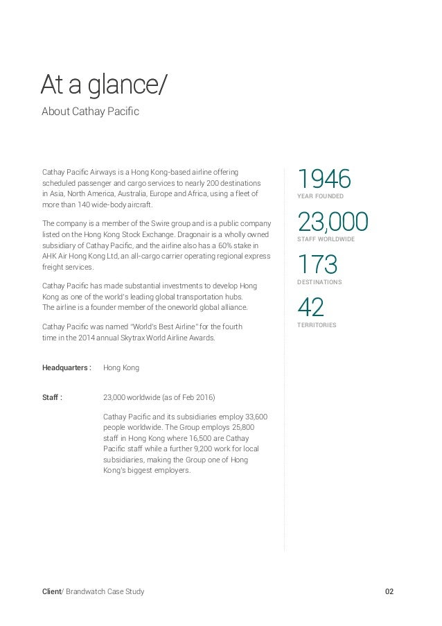Cathay Pacific | Case Study Solution | Case Study Analysis