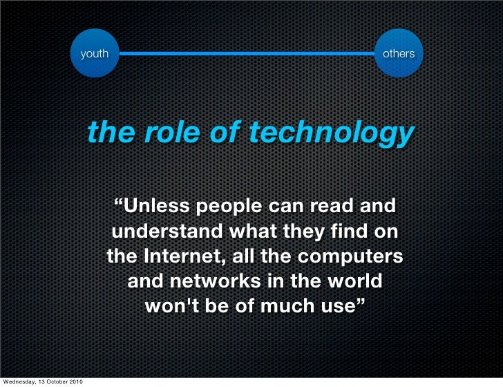 youth                            others                                  the role of technology                           ...