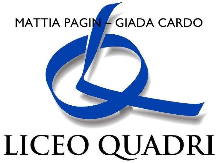 MATTIA PAGIN – GIADA CARDO