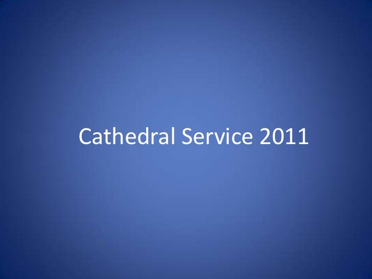 Cathedral Service 2011<br />