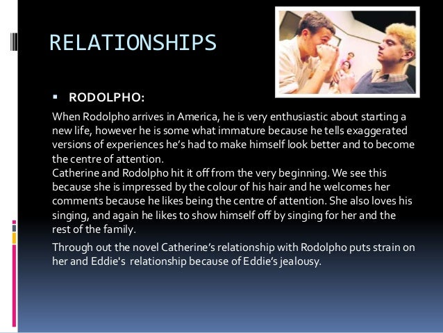 marco and rodolpho a view from the bridge essay Online study guide for a view from the bridge , plot & action the relationship between catherine and rodolfo.