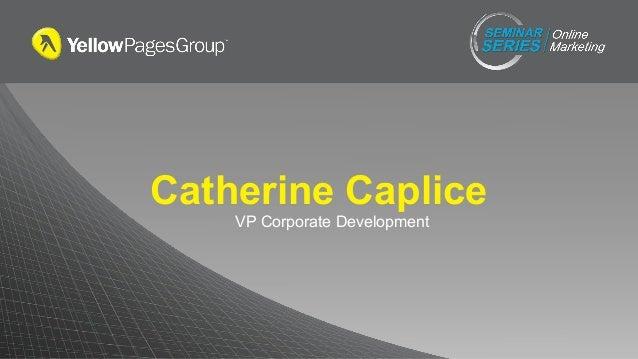 Catherine Caplice VP Corporate Development