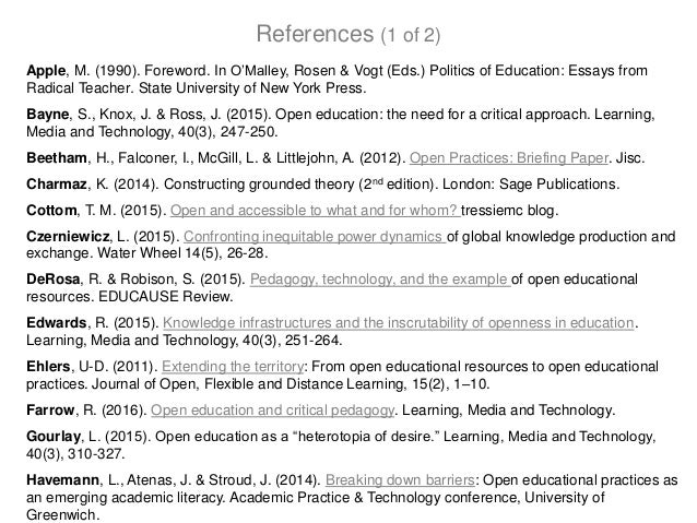 Apple, M. (1990). Foreword. In O'Malley, Rosen & Vogt (Eds.) Politics of Education: Essays from Radical Teacher. State Uni...