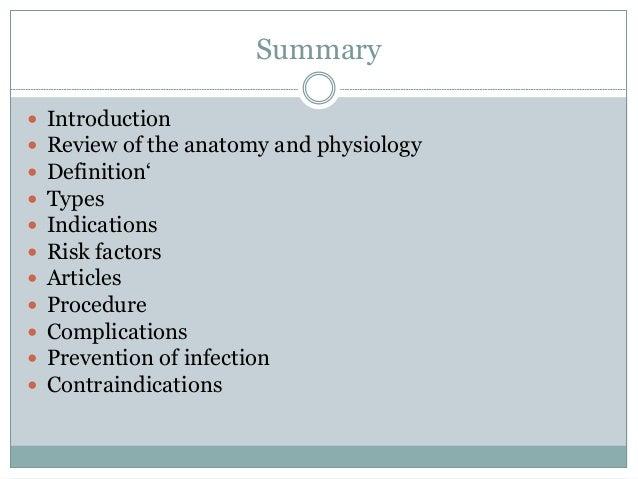 Catheterisation