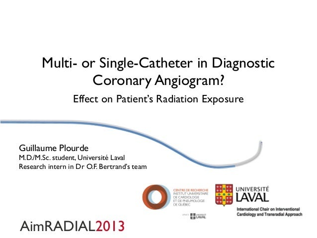 Multi- or Single-Catheter in Diagnostic Coronary Angiogram? Effect on Patient's Radiation Exposure  Guillaume Plourde M.D....
