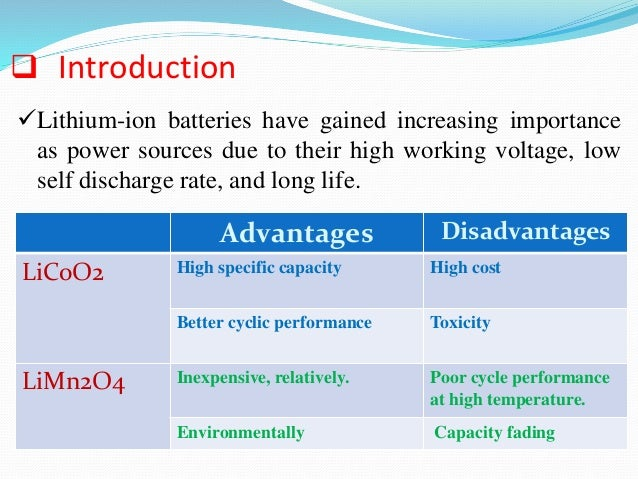 Cathode Materials For Rechargeable Lithium Ion Batteries