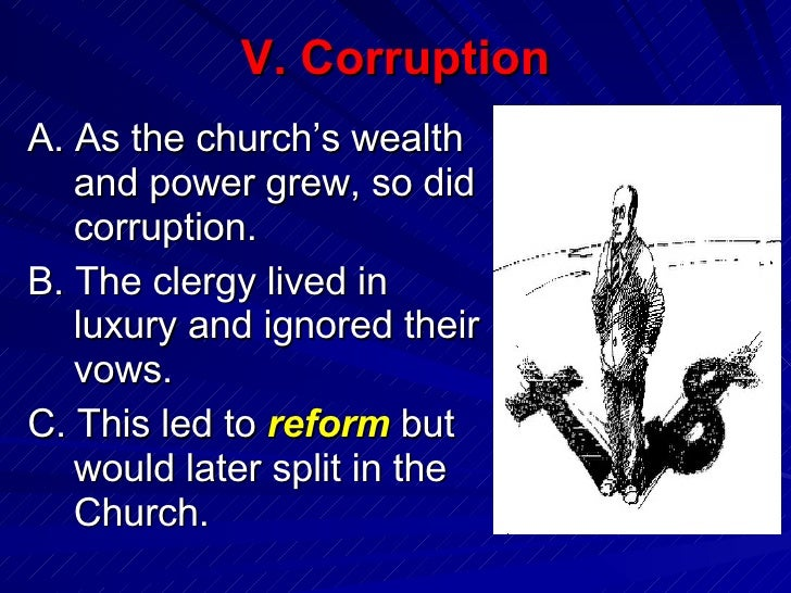 corruption of church in middle ages