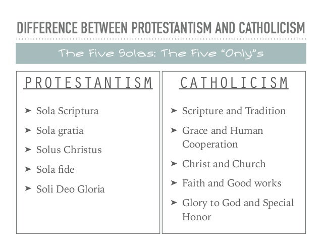 the differences between protestants and catholics
