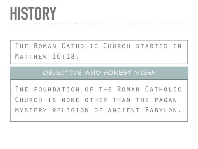 Roman Catholicism in a Nutshell