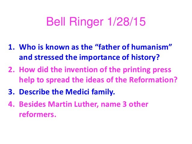Catholic reformation catholic reformation bell ringer 12815 1 who is known as the father ccuart Images