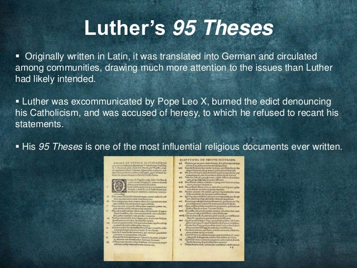 luther thesis 86 Martin luther's ninety-five theses has 1464 ratings and 104 reviews  44, 45,  53, 54, 62, 86 my favorite: thesis 62 the true treasure of the church is the most .