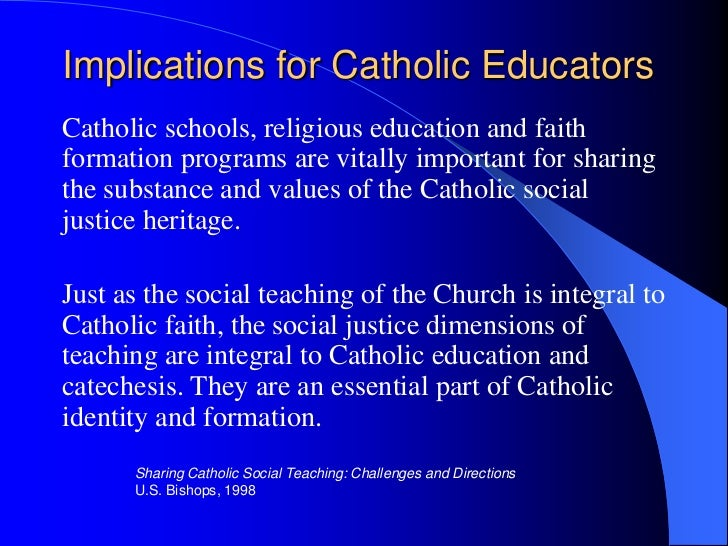 essay on catholic social teaching The catholic social teachings: its application in our world  these actions are part of the catholic social teaching  but full essay samples are available.