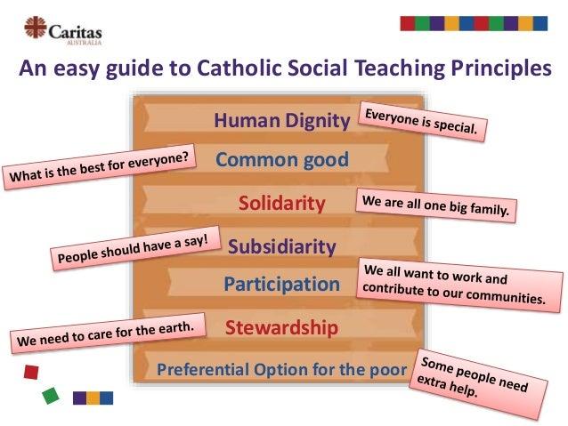 Catholic social teaching principles