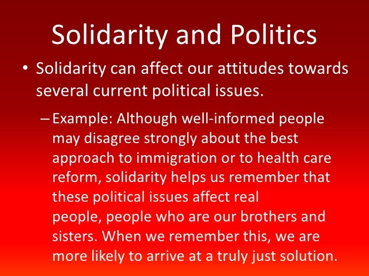 Catholic Social Teaching Solidarity