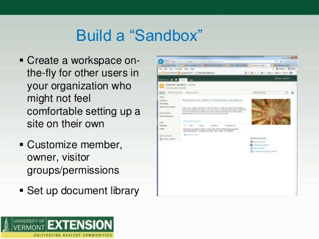 """Build a """"Sandbox""""  Create a workspace on- the-fly for other users in your organization who might not feel comfortable set..."""