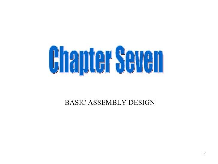 Chapter Seven BASIC ASSEMBLY DESIGN 79