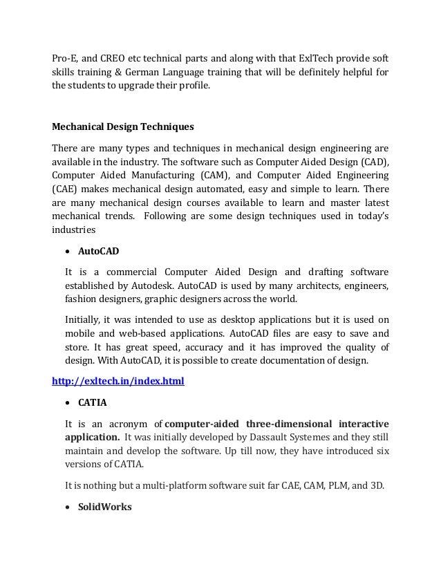 Catia mechanical design trainning course