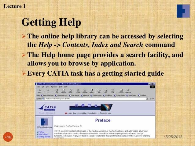 Catia v5 lecture notes