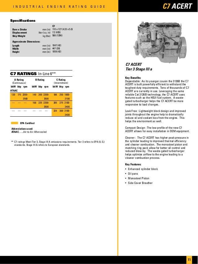 Cat industrial engines brochure