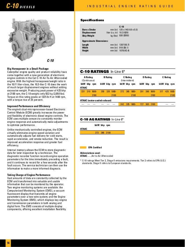cat industrial engines brochure. Black Bedroom Furniture Sets. Home Design Ideas
