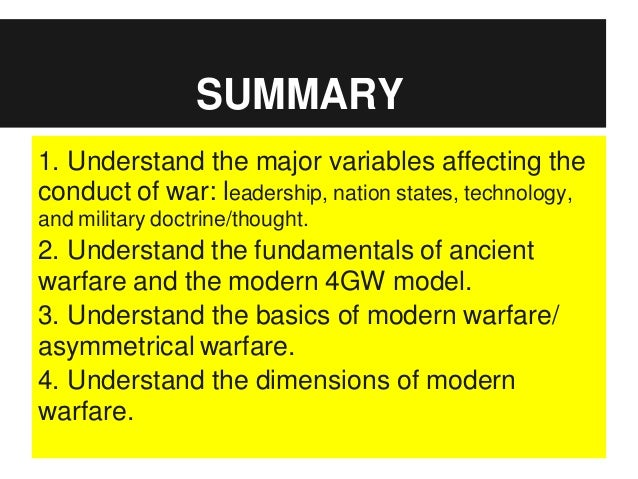 the problem with fourth generation war Some call it the fourth world war because they consider the cold war the 3rd world war i call the war on terror world war iii because the lines have been drawn enemy microsoft word - 7 5th generation warfare.