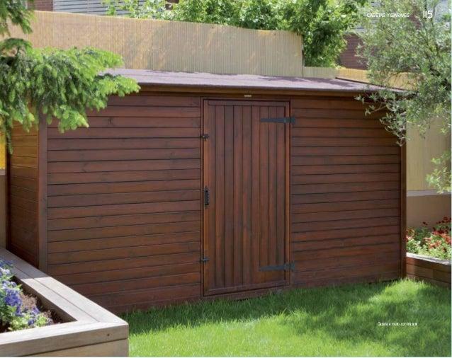 Casetas y garajes de exterior nueva colecci n de p rgolas - Casetas de madera para terraza ...